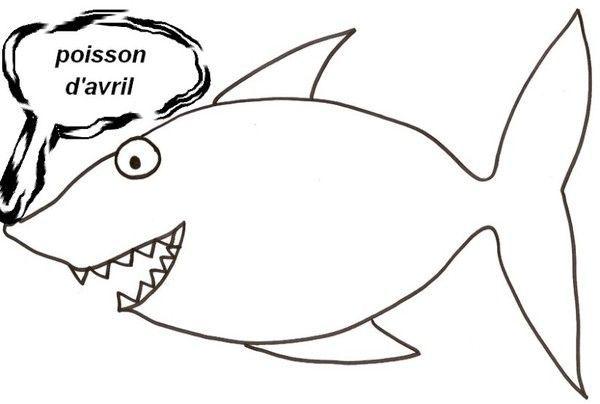 Coloriage - Modele dessin requin ...